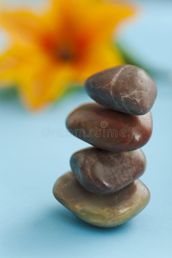温泉石头 免版税库存图片