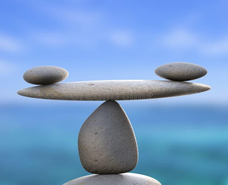 温泉石头表明健康平等和平静 向量例证