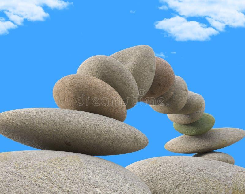 温泉石头表明放松健康和平衡 皇族释放例证
