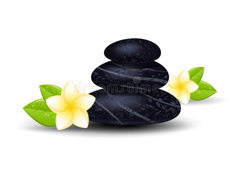 温泉石头 向量例证
