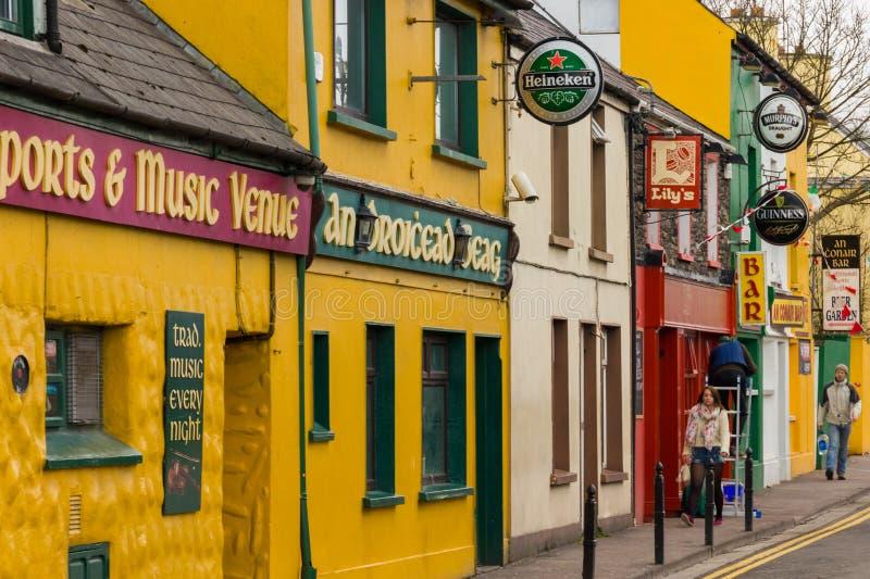 温泉路 幽谷 爱尔兰 库存图片