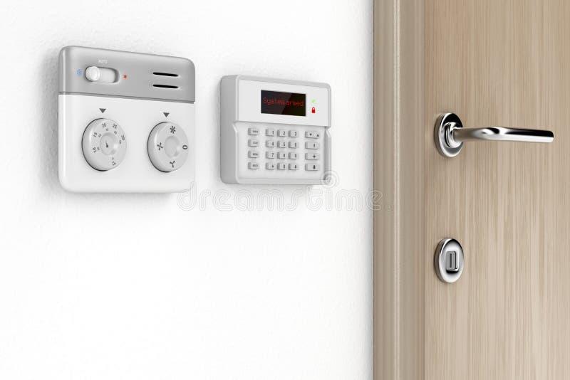 温箱和警报控制 向量例证