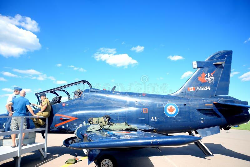 温莎,加拿大- 2016年9月10日:加拿大军事pla看法  免版税库存照片
