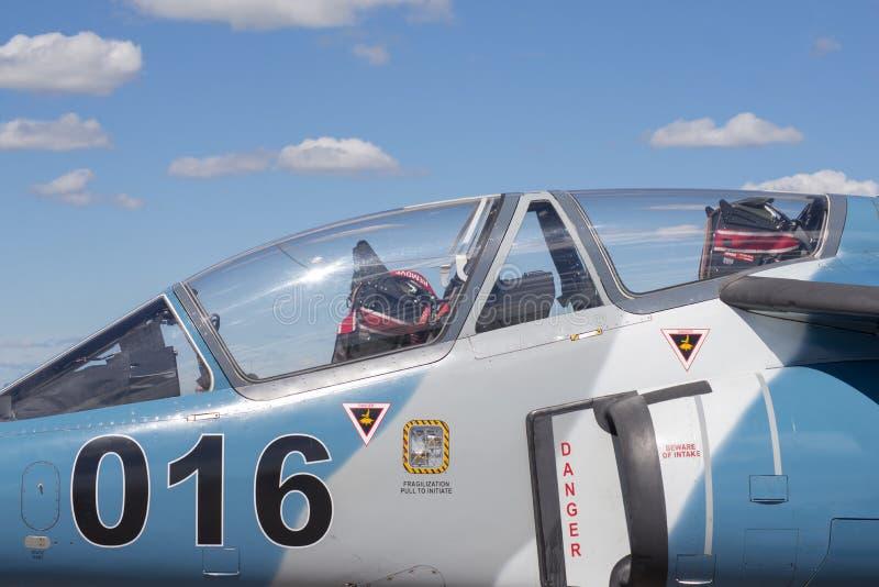 温莎,加拿大- 2016年9月10日:加拿大军事pla看法  库存照片