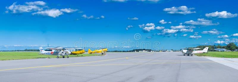 温莎,加拿大- 2016年9月10日:加拿大喷气机全景  库存照片