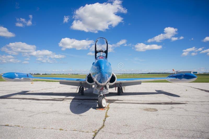 温莎,加拿大- 2016年9月10日:喷气机Mus JFront视图  免版税图库摄影