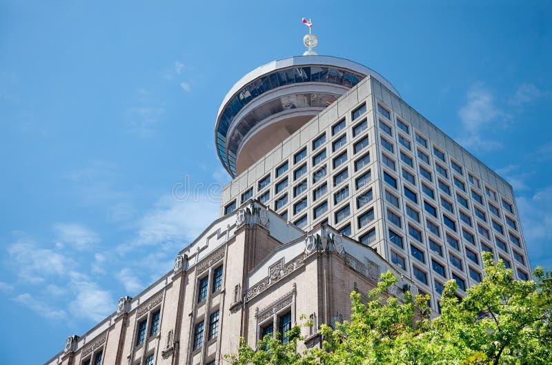 港口中心,温哥华 库存图片