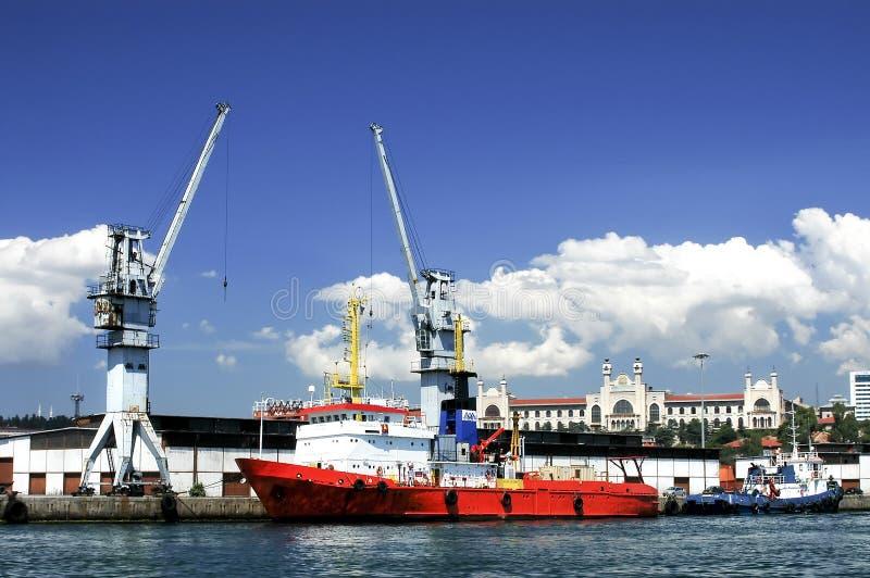 港口伊斯坦布尔 图库摄影