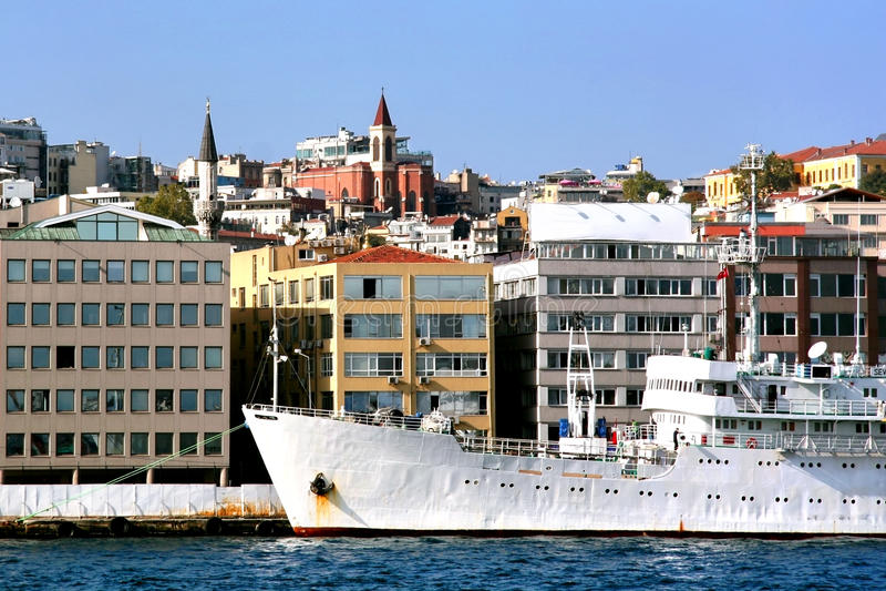 港口伊斯坦布尔 库存照片
