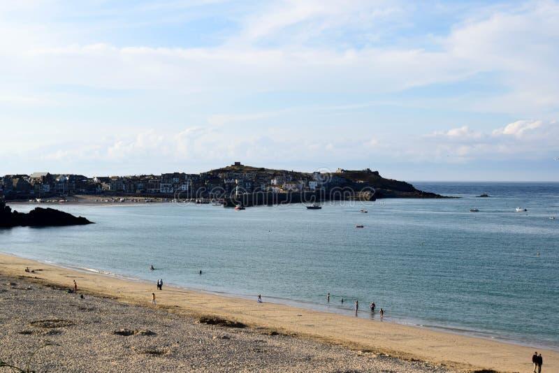 港口在圣Ives,康沃尔郡,英国 免版税库存图片