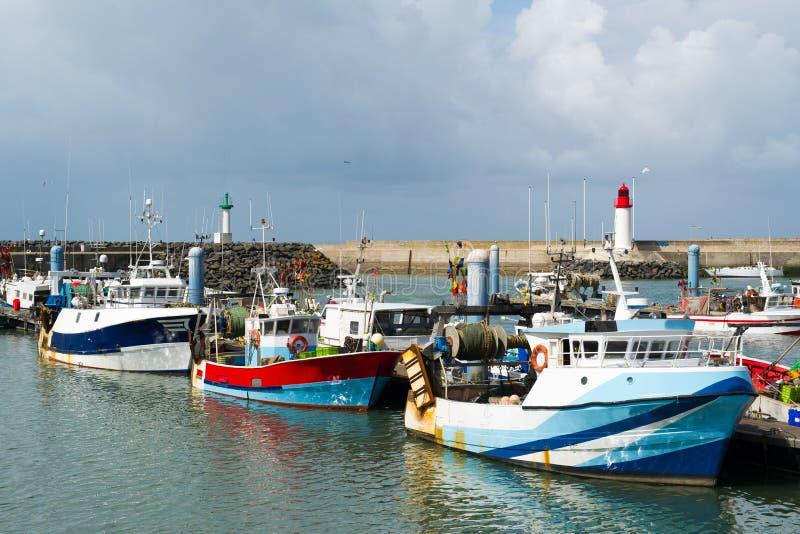 港口在法国 库存照片