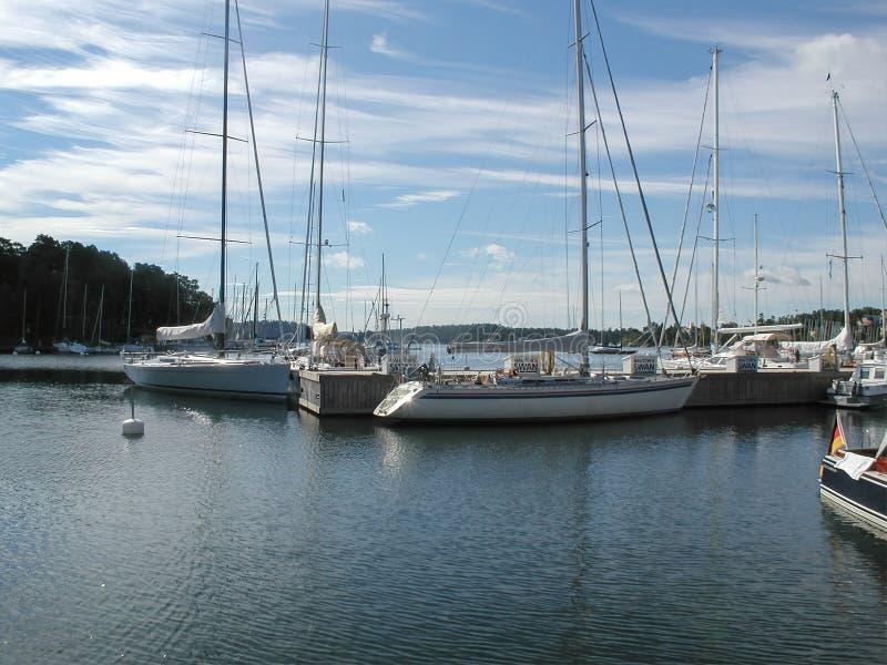 港口在Nacka,斯德哥尔摩 免版税库存照片