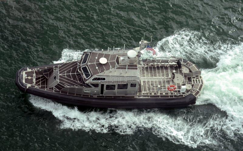 港口巡逻艇在劳德代尔堡,佛罗里达 免版税库存照片