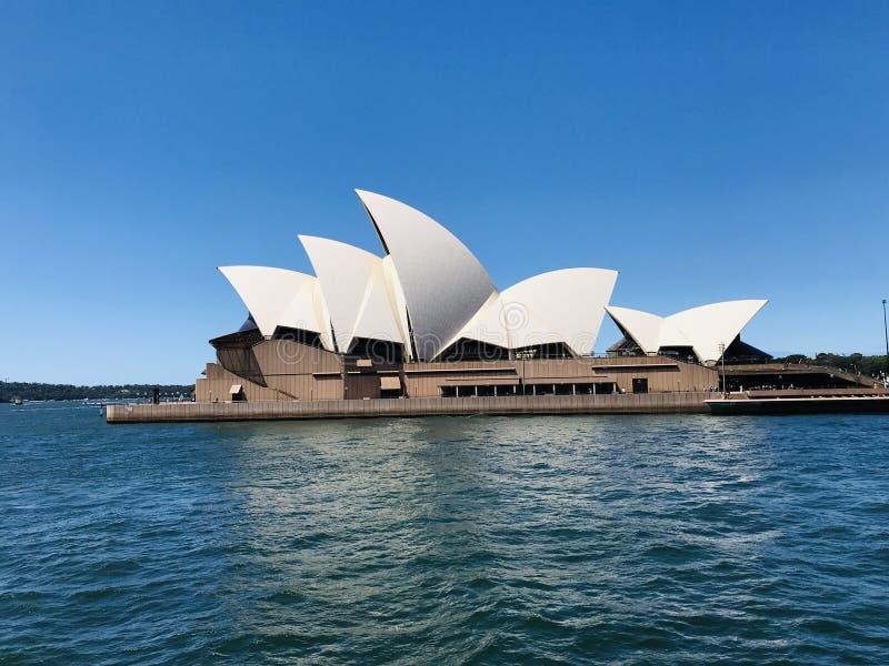 港口悉尼歌剧 免版税库存图片
