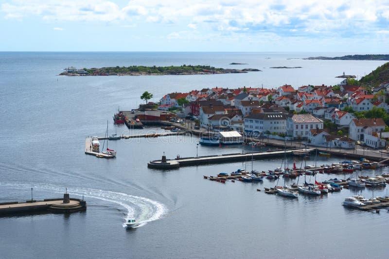 港口挪威risor 免版税库存照片