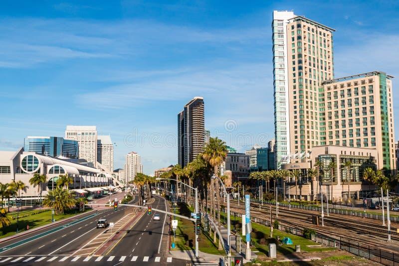 港口推进旅馆和会议中心在圣地亚哥 免版税库存图片