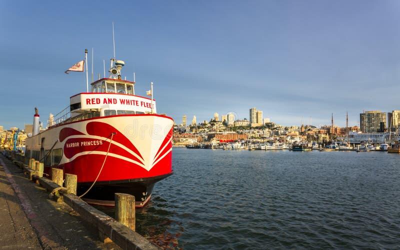 港口旧金山,加利福尼亚,美国,北美洲王子, 免版税库存图片