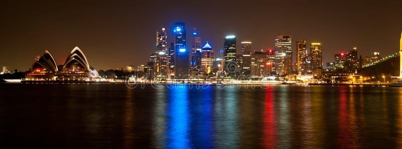 港口晚上悉尼 免版税库存照片
