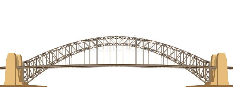 港口桥梁传染媒介 向量例证