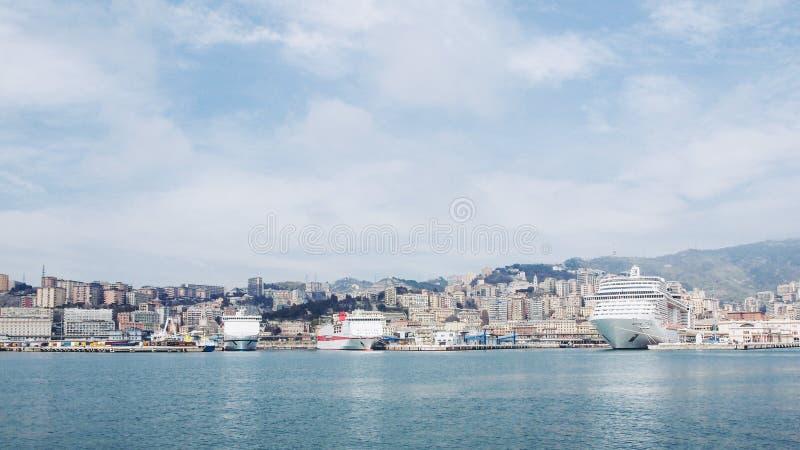 港口热那亚意大利 图库摄影
