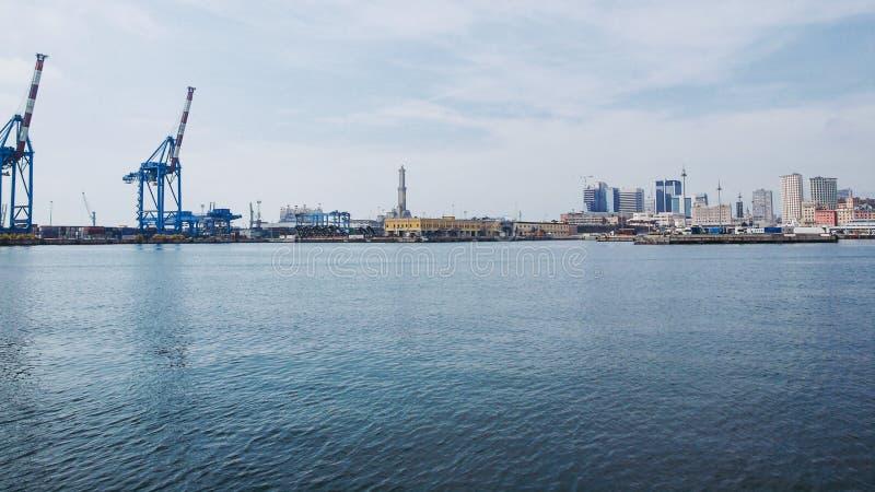 港口热那亚意大利 库存照片