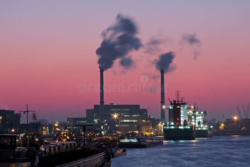 港口荷兰鹿特丹 免版税库存图片