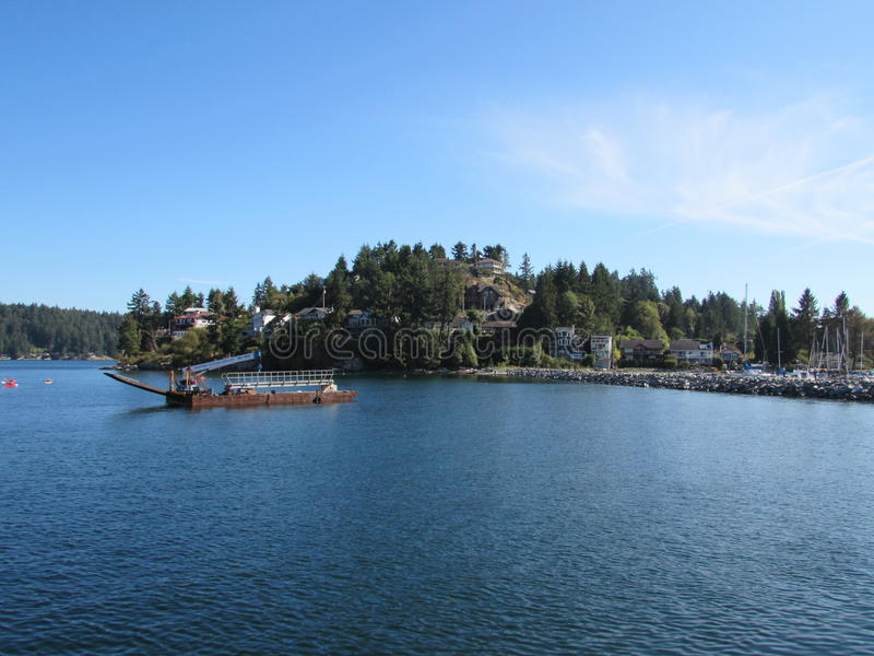 港口视图加拿大人水 库存图片