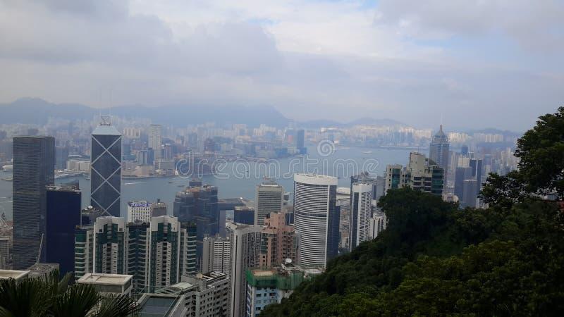 港口视图在香港 免版税库存照片