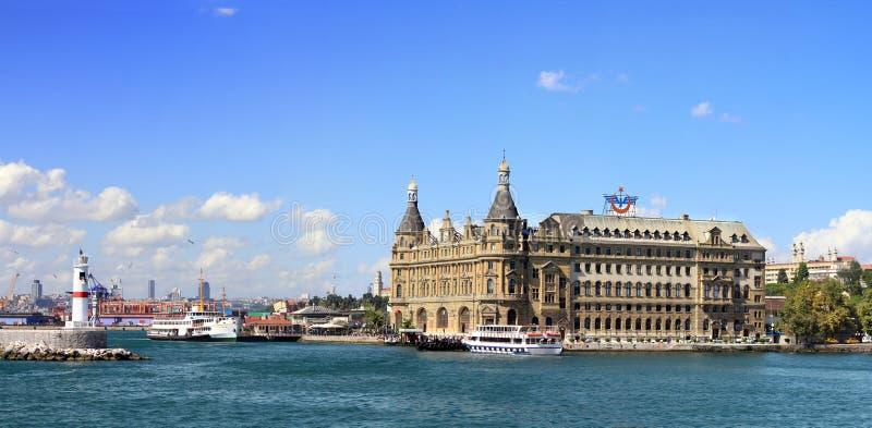 港口haydarpasa伊斯坦布尔 库存照片