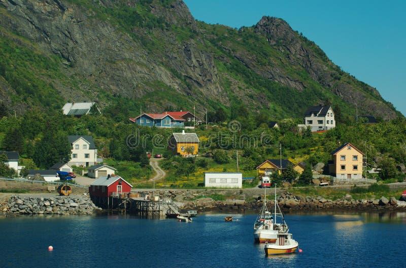 港口lofoten moskenes挪威 库存图片