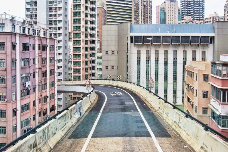 港岛,路(高架桥) 免版税库存照片