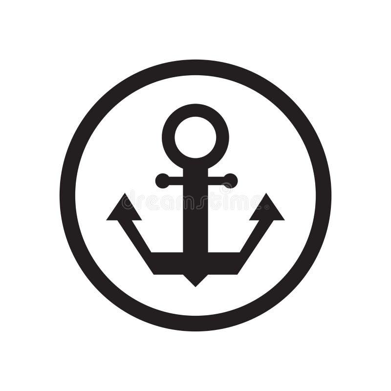 港标志象在白色背景隔绝的传染媒介标志和标志,港标志商标概念 向量例证