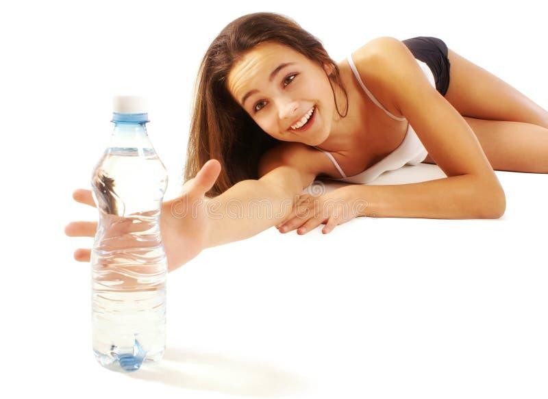 渴的女孩 免版税库存图片
