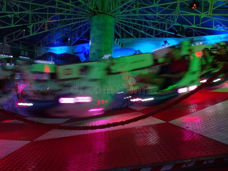 游乐园乘驾在巴塞罗那西班牙 库存图片