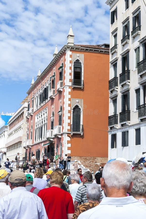 游人人群在威尼斯意大利 库存照片