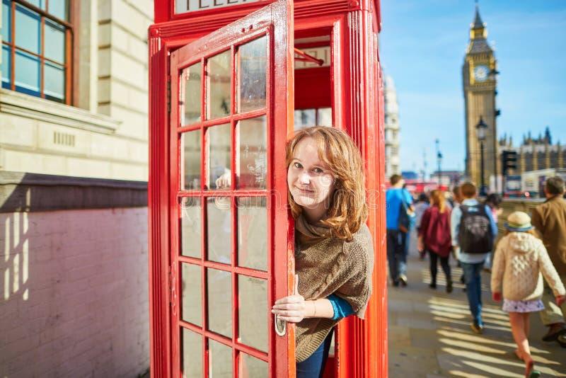 年轻游人在伦敦 库存照片