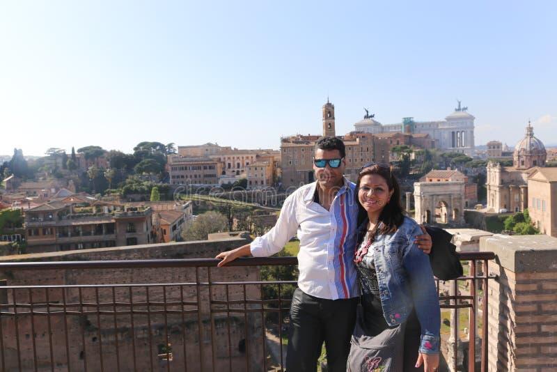 游人在罗马意大利 免版税库存图片