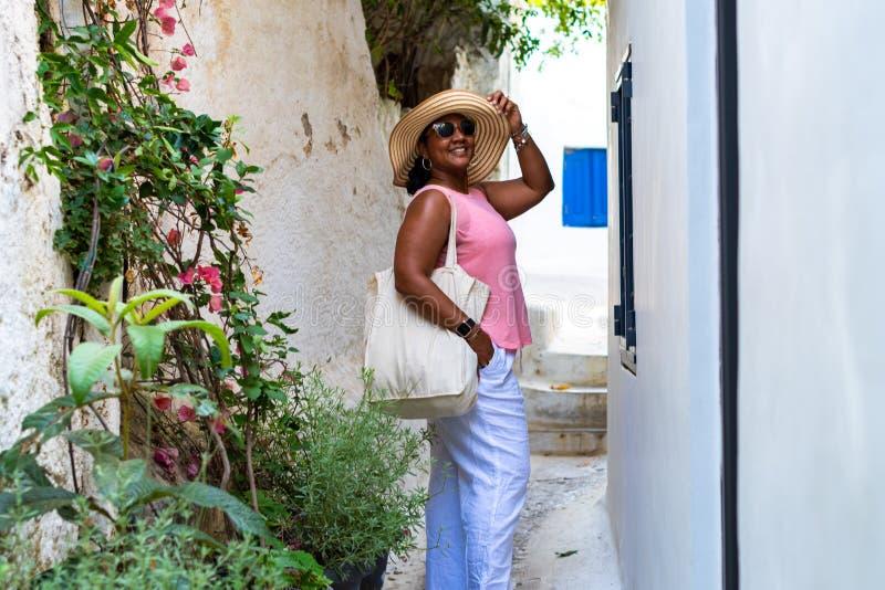 游人在雅典希腊 免版税库存图片