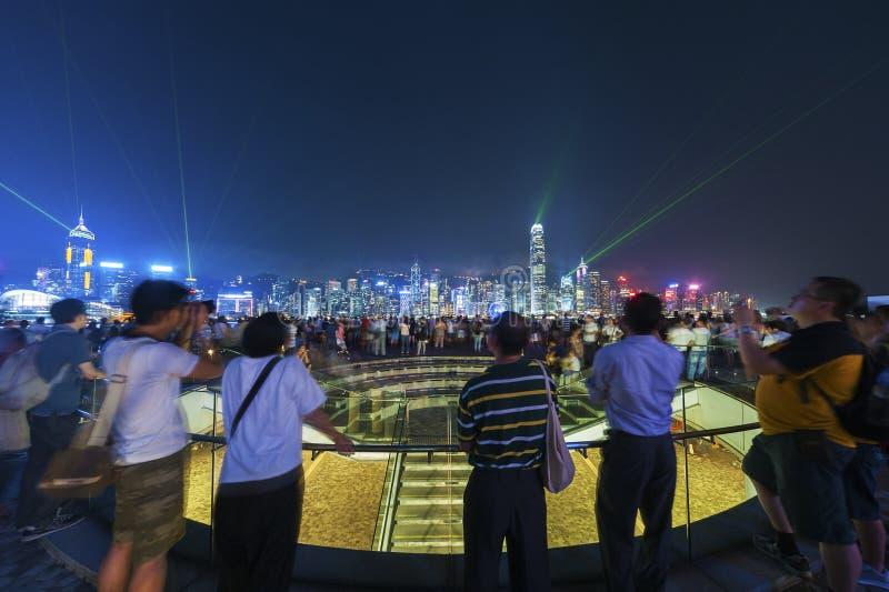 游人在香港 免版税图库摄影