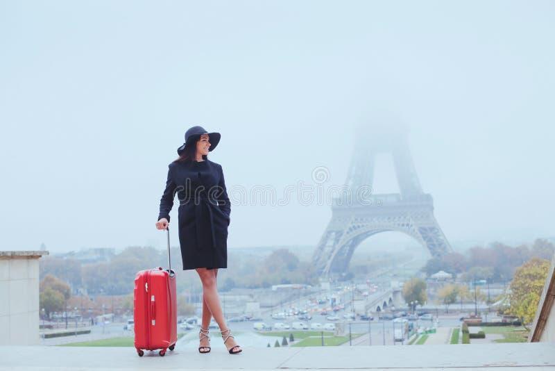 游人在巴黎,欧洲游览 库存照片