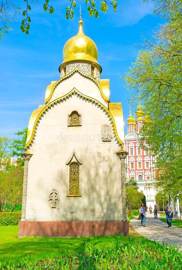 游人在Novodevichy女修道院 库存照片