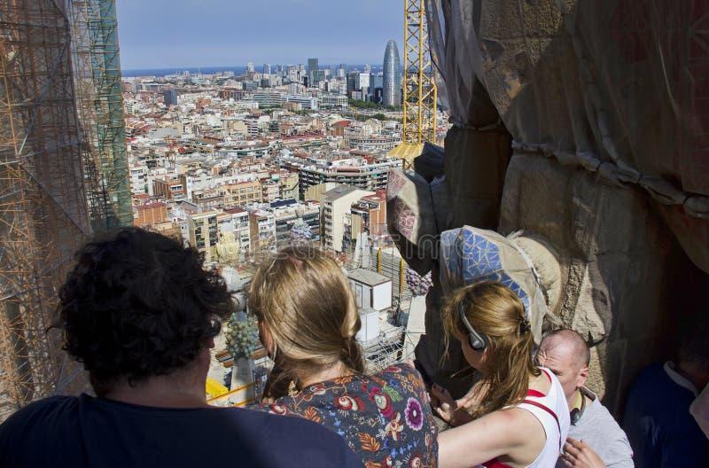 游人景色巴塞罗那,西班牙 免版税库存照片