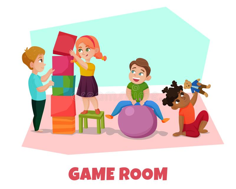 游戏室例证 向量例证