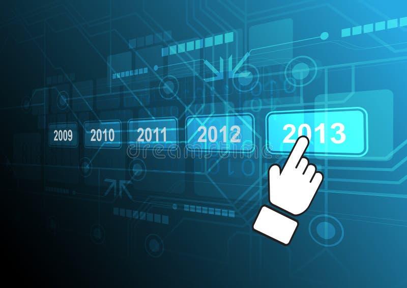 游标单击2013按钮 库存例证