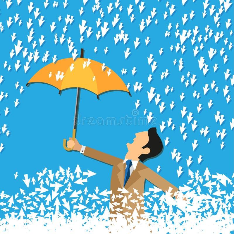 游标雨  向量例证
