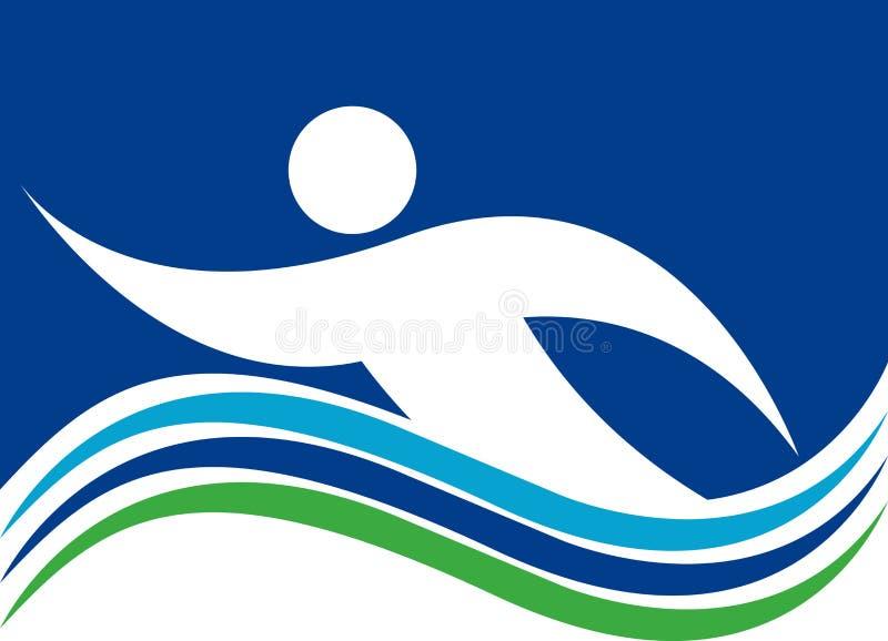 游泳商标 皇族释放例证