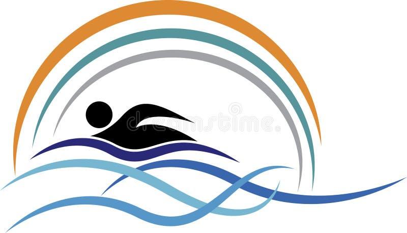 游泳商标 库存例证