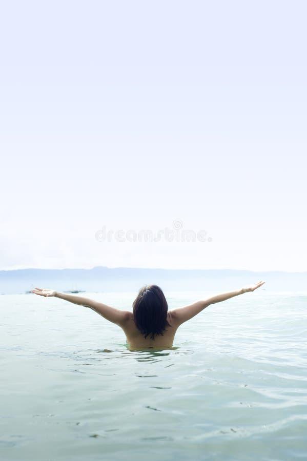 游泳时间 免版税图库摄影