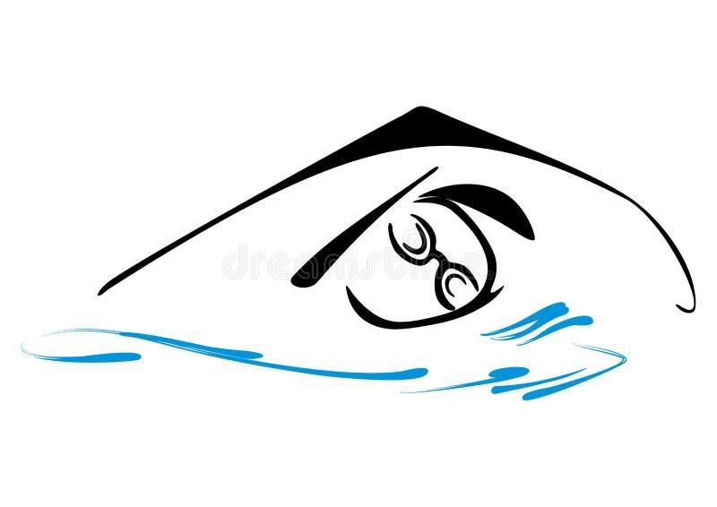 游泳标志 库存例证