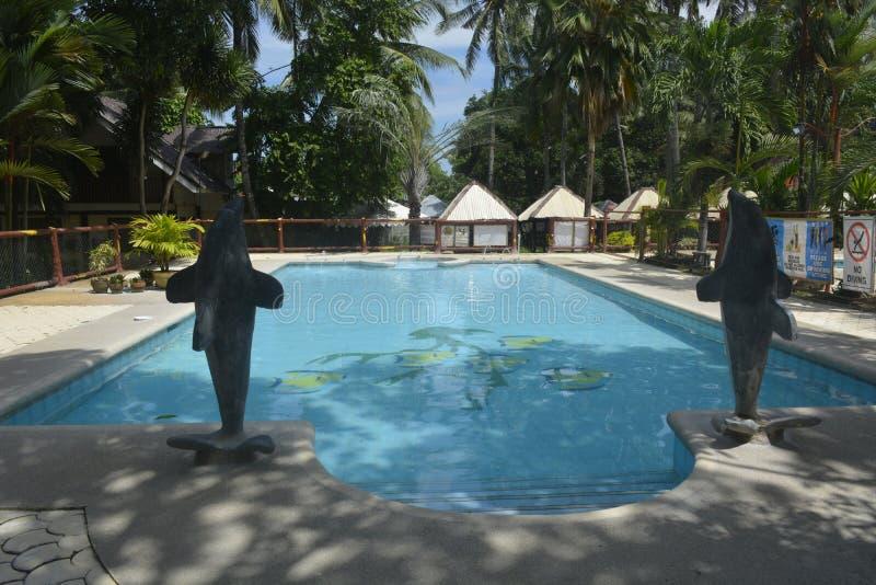 游泳池位于圣Vali, Digos市,南达沃省,菲律宾 库存图片